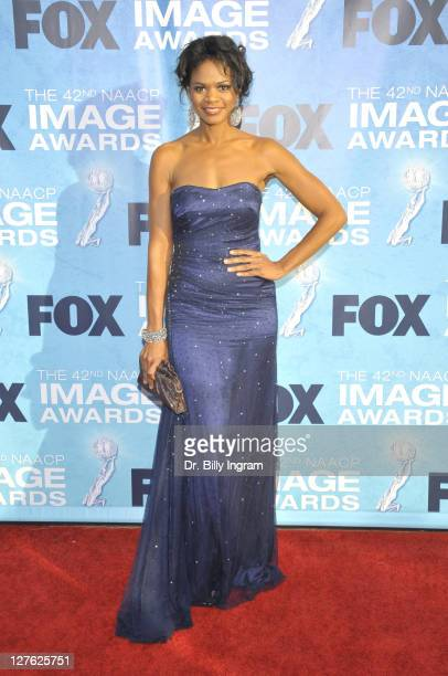Actress Kimberly Elise attends the 42nd NAACP Image Awards Arrivals at The Shrine Auditorium on March 4 2011 in Los Angeles California