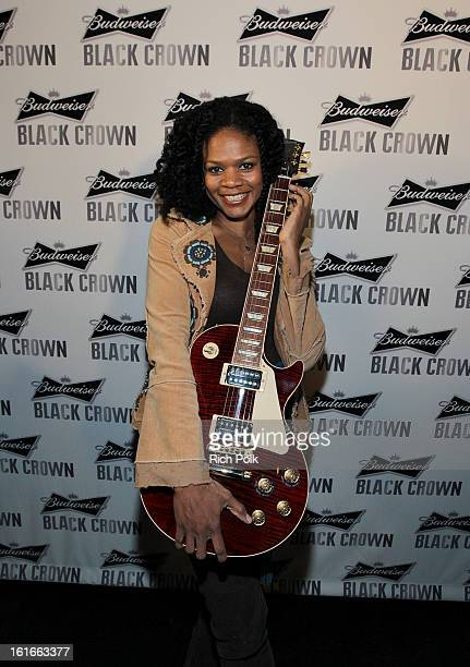 Actress Kimberly Elise attends the Budweiser Black Crown Launch Party at gibson/baldwin showroom on February 13 2013 in Los Angeles California