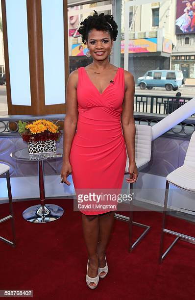 Actress Kimberly Elise visits Hollywood Today Live on September 2 2016 in Hollywood California