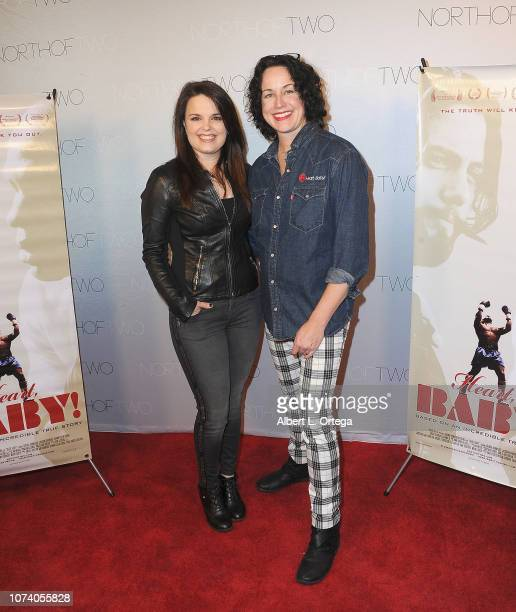 Actress Kimberly J Brown and director Angela Shelton arrive for the premiere of 'Heart Baby' held at The Ahrya Fine Arts Laemmle Theater on November...