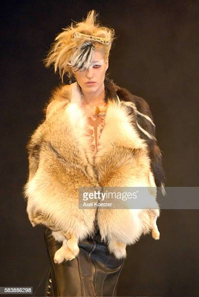 Actress Kimberly Kane wears fashion by Tod Waters and Giuliana Mayo of Junker Designs Fall 2007 collection at the Avalon in Hollywood California