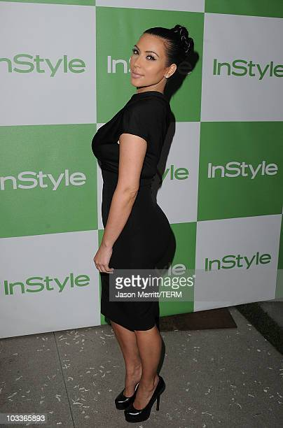 Actress Kimberly Kardashian arrives at the 9th Annual InStyle Summer Soiree on August 12 2010 in Los Angeles California