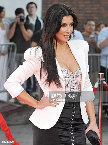 Actress Kimberly Kardashian arrives at the Los Angeles Premiere 'The Taking of Pelham 123' at Mann Village Theatre on June 4 2009 in Westwood Los...