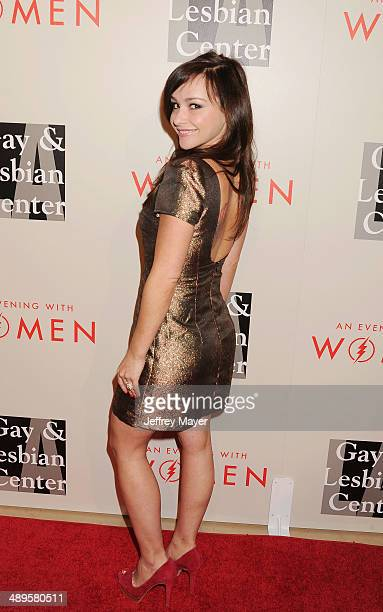 Actress Kimberly McCullough arrives at the 2014 'An Evening With Women' Benefiting LA Gay Lesbian Center at the Beverly Hilton Hotel on May 10 2014...