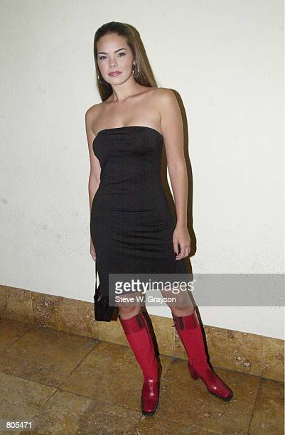Actress Kimberly Pressler poses for photographers at the launch party for Bold Magazine at the Sunset Room September 28 2000 in Hollywood CA