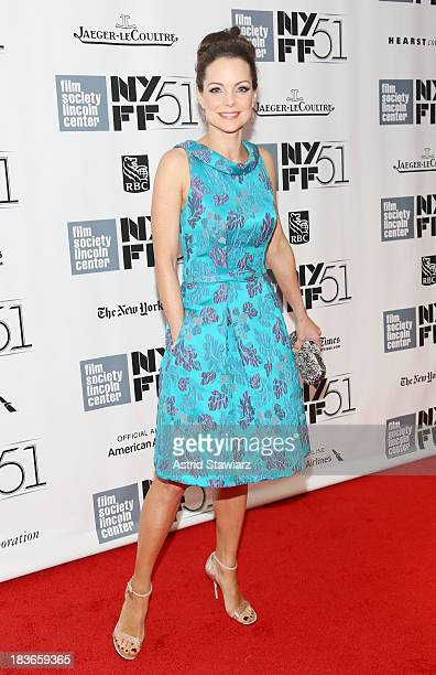 Actress Kimberly Williams attends the 'All Is Lost' premiere during the 51st New York Film Festival at Alice Tully Hall at Lincoln Center on October...