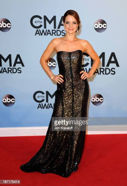 Actress Kimberly Williams Paisley attends the 47th annual CMA Awards at the Bridgestone Arena on November 6 2013 in Nashville Tennessee