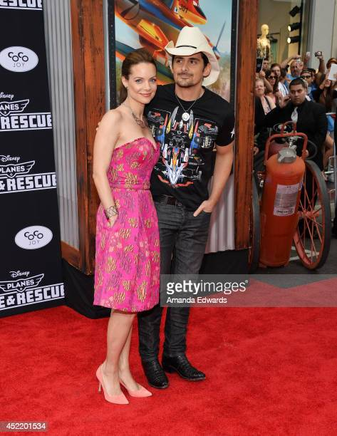 Actress Kimberly WilliamsPaisley and musician Brad Paisley arrive at the Los Angeles premiere of Disney's 'Planes Fire Rescue' at the El Capitan...