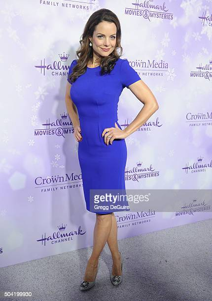 Actress Kimberly WilliamsPaisley arrives at the Hallmark Channel and Hallmark Movies and Mysteries Winter 2016 TCA Press Tour at Tournament House on...