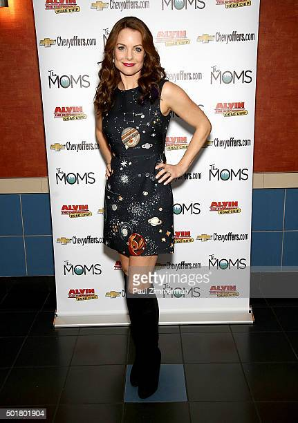 Actress Kimberly WilliamsPaisley attends Mamarazzi Screening Of Alvin And The Chipmunks Road Chip at Regal EWalk on December 17 2015 in New York City