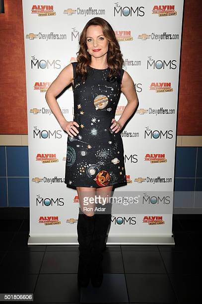 Actress Kimberly WilliamsPaisley attends Mamarazzi screening of Alvin and the Chipmunks The Road Chip at Regal EWalk on December 17 2015 in New York...