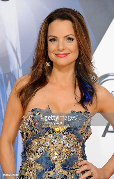 Actress Kimberly WilliamsPaisley attends the 49th annual CMA Awards at the Bridgestone Arena on November 4 2015 in Nashville Tennessee