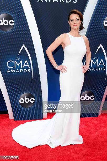 Actress Kimberly WilliamsPaisley attends the 52nd annual CMA Awards at the Bridgestone Arena on November 14 2018 in Nashville Tennessee