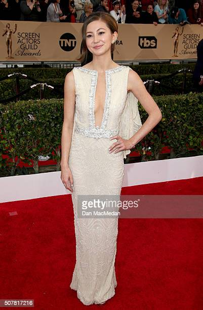 Actress Kimiko Glenn attends the 22nd Annual Screen Actors Guild Awards at The Shrine Auditorium on January 30 2016 in Los Angeles California