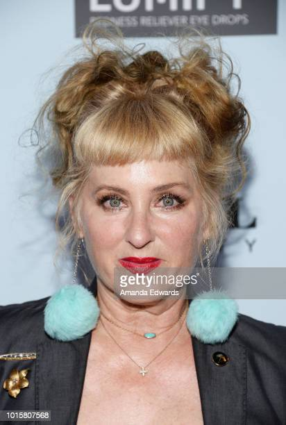 Actress Kimmy Robertson arrives at the MakeUp Artists and Hair Stylists Guild Reception at The Beverly Center on August 12 2018 in Los Angeles...