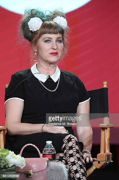 Actress Kimmy Robertson of the television show 'Twin Peaks' speaks onstage during the Showtime portion of the 2017 Winter Television Critics...