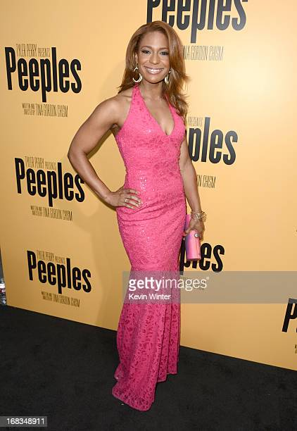 Actress Kimrie LewisDavis arrives at the premiere of 'Peeples' presented by Lionsgate Film and Tyler Perry at ArcLight Hollywood on May 8 2013 in...