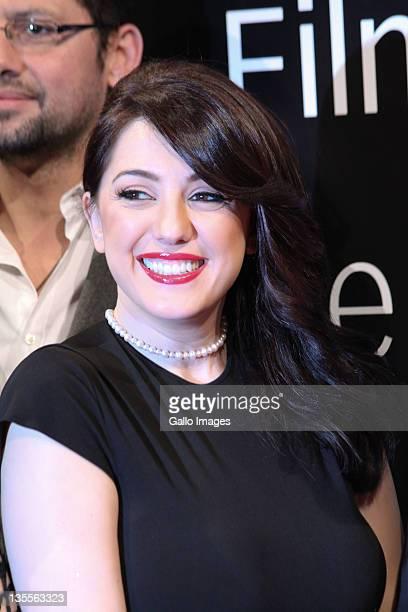 Actress Kinda Alloush attends the 'A Whole One' premiere during the 2011 Dubai International Film Festival Day Five on Decemeber 11 2011 in Dubai