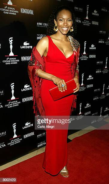 Actress Kira Arne attends the 6th Annual Costume Guild Awards in the International Ballroom at the Beverly Hilton Hotel February 21 2004 in Beverly...