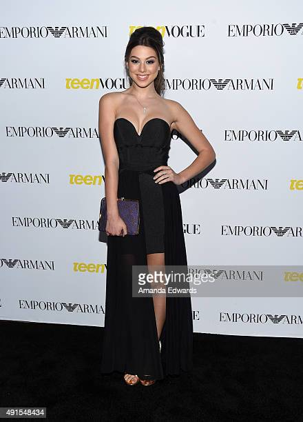 Actress Kira Kosarin arrives at Teen Vogue's 13th Annual Young Hollywood Issue Launch Party on October 2 2015 in Los Angeles California