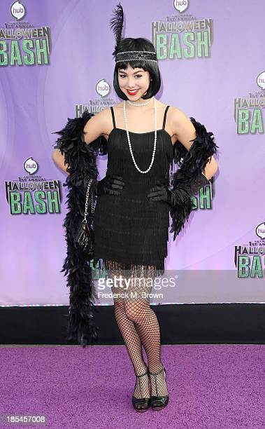 Actress Kira Kosarin attends Hub Network's First Annual Halloween Bash in Barker Hangar at the Santa Monica Airport on October 20 2013 in Santa...