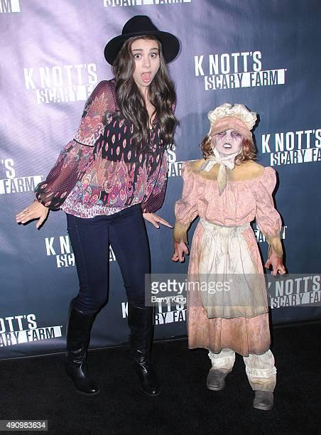 Actress Kira Kosarin attends Knott's Scary Farm Black Carpet at Knott's Berry Farm on October 1 2015 in Buena Park California