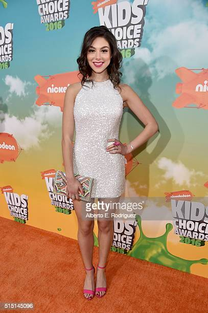 Actress Kira Kosarin attends Nickelodeon's 2016 Kids' Choice Awards at The Forum on March 12 2016 in Inglewood California