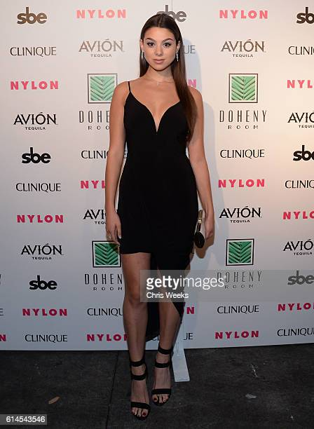 Actress Kira Kosarin attends NYLON Nights Los Angeles in celebration of the October It Girl issue hosted by cover star Tinashe at Doheny Room on...