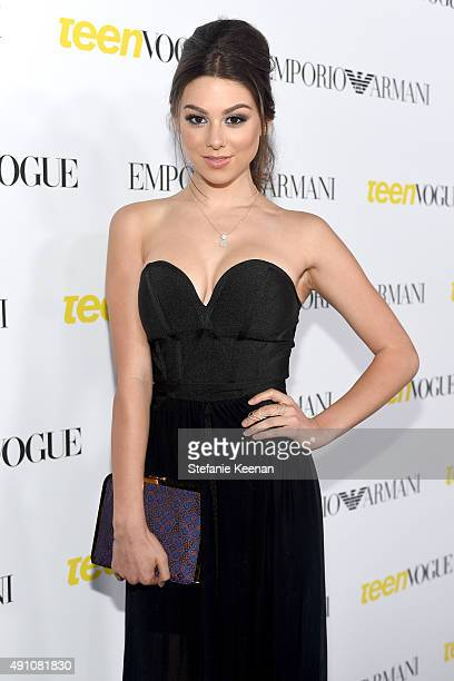Actress Kira Kosarin attends Teen Vogue Celebrates the 13th Annual Young Hollywood Issue with Emporio Armani on October 2 2015 in Beverly Hills...