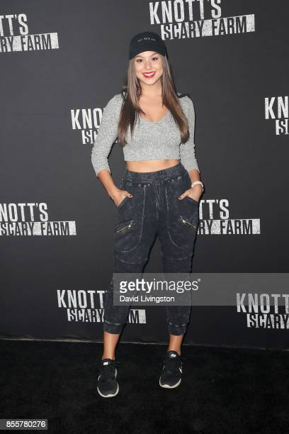 Actress Kira Kosarin attends the Knott's Scary Farm and Instagram's Celebrity Night at Knott's Berry Farm on September 29 2017 in Buena Park...