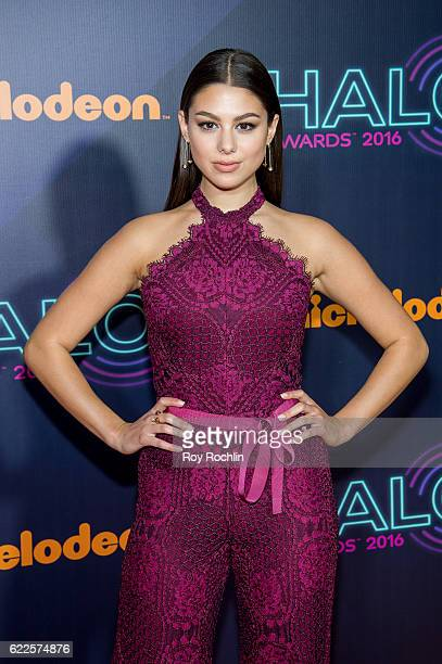 Actress Kira Kosarin attends the Nickelodeon Halo Awards 2016 at Pier 36 on November 11 2016 in New York City