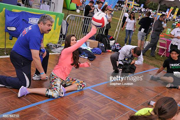 Actress Kira Kosarin of The Thundermans participates in activities attends Nickelodeon's 11th Annual Worldwide Day of Play at Prospect Park on...
