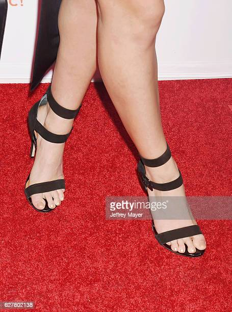 Actress Kira Kosarin shoe detail at the TrevorLIVE Los Angeles 2016 Fundraiser at the Beverly Hilton Hotel on December 04 2016 in Beverly Hills...