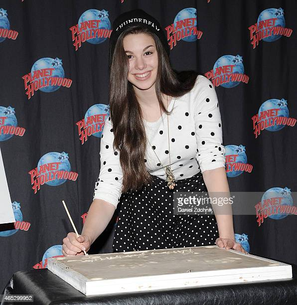 Actress Kira Kosarin visits Planet Hollywood Times Square on March 5 2015 in New York City