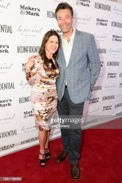 Actress Kira Reed Lorsch and Mark Mendelsohn of Modern Luxury attends the Los Angeles Confidential Emmys Celebration at Kimpton La Peer Hotel on...