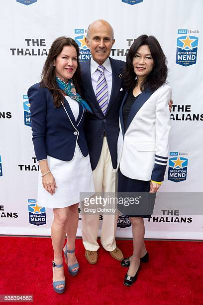 Actress Kira Reed Lorsch, Retired Los Angeles County Sheriff Lee Baca and his wife, Carol Chiang, attend The Thalians Presidents Club Anchors Away...