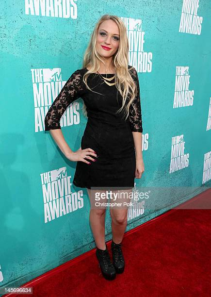 Actress Kirby Bliss Blanton arrives at the 2012 MTV Movie Awards held at Gibson Amphitheatre on June 3 2012 in Universal City California