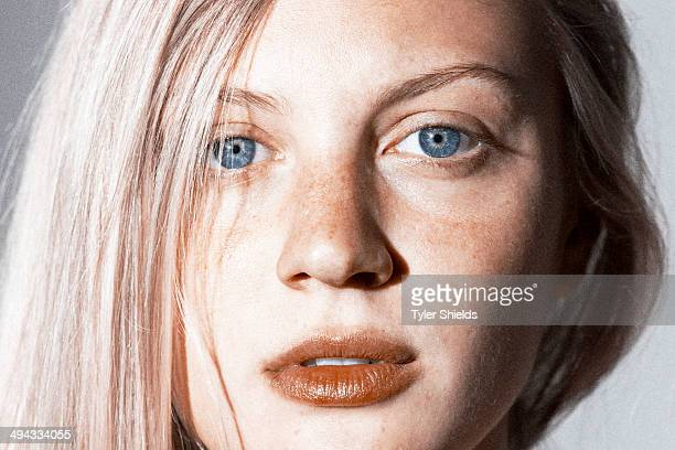Actress Kirby Bliss Blanton is photographed for Self Assignment on May 23 2014 in Los Angeles California