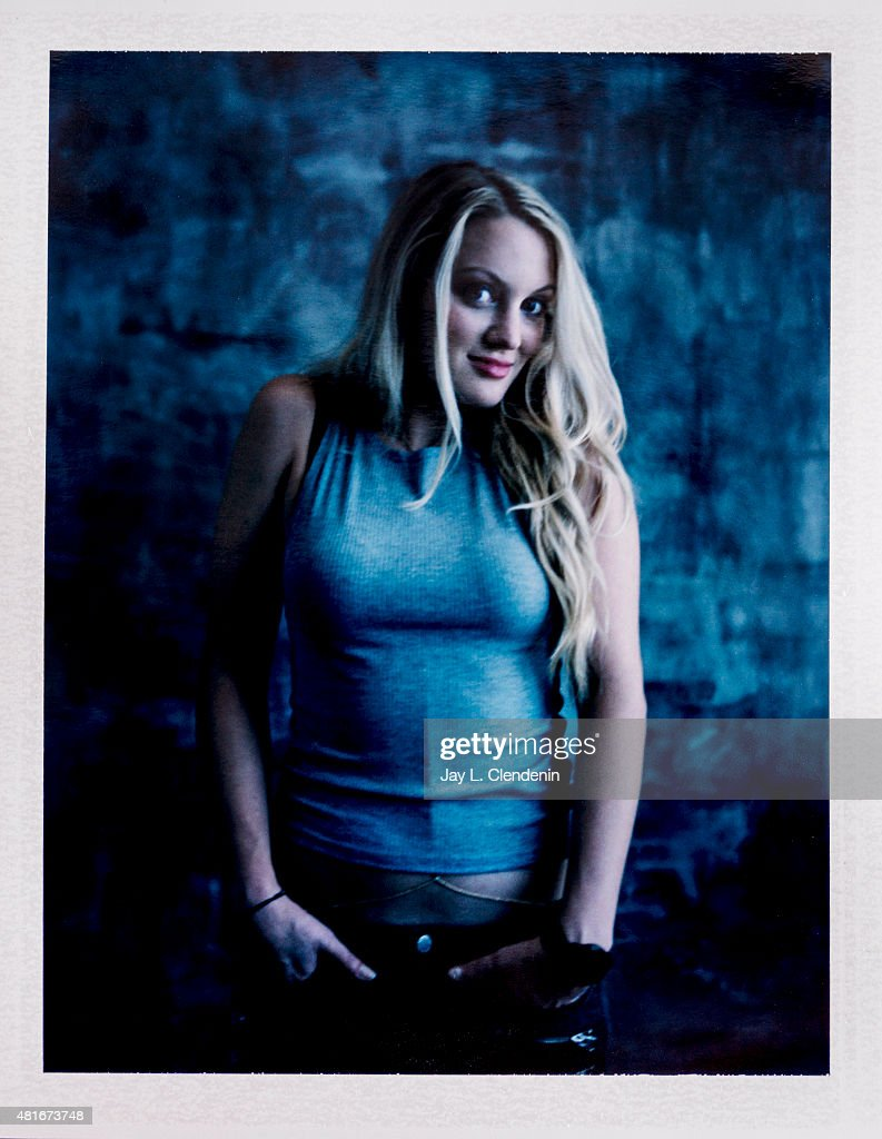 Actress Kirby Bliss Blanton of 'The Green Inferno' is photographed on polaroid film at Comic-Con International 2015 for Los Angeles Times on July 9, 2015 in San Diego, California. PUBLISHED IMAGE.