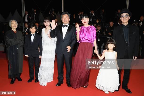 Actress Kirin Kiki actor Jyo Kairi actress Mayu Matsuoka director Hirokazu Koreeda actresses Sakura Andô actress Miyu Sasaki and actor Lily Franky...