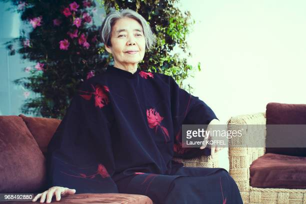Actress Kirin Kiki poses during a portrait session on May 18 2016 in Cannes France