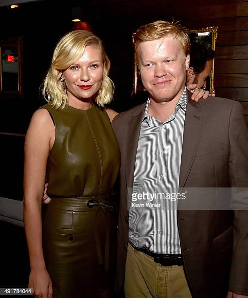 """Actress Kirsten Dunst and actor Jesse Plemons pose at the after party for the premiere of FX's """"Fargo"""" Season 2 at Le Jardin in Los Angeles,..."""