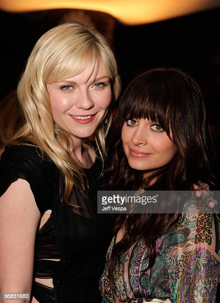 """Actress Kirsten Dunst and Nicole Richie attend The Art of Elysium's 3rd Annual Black Tie Charity Gala """"Heaven"""" on January 16, 2010 in Beverly Hills,..."""