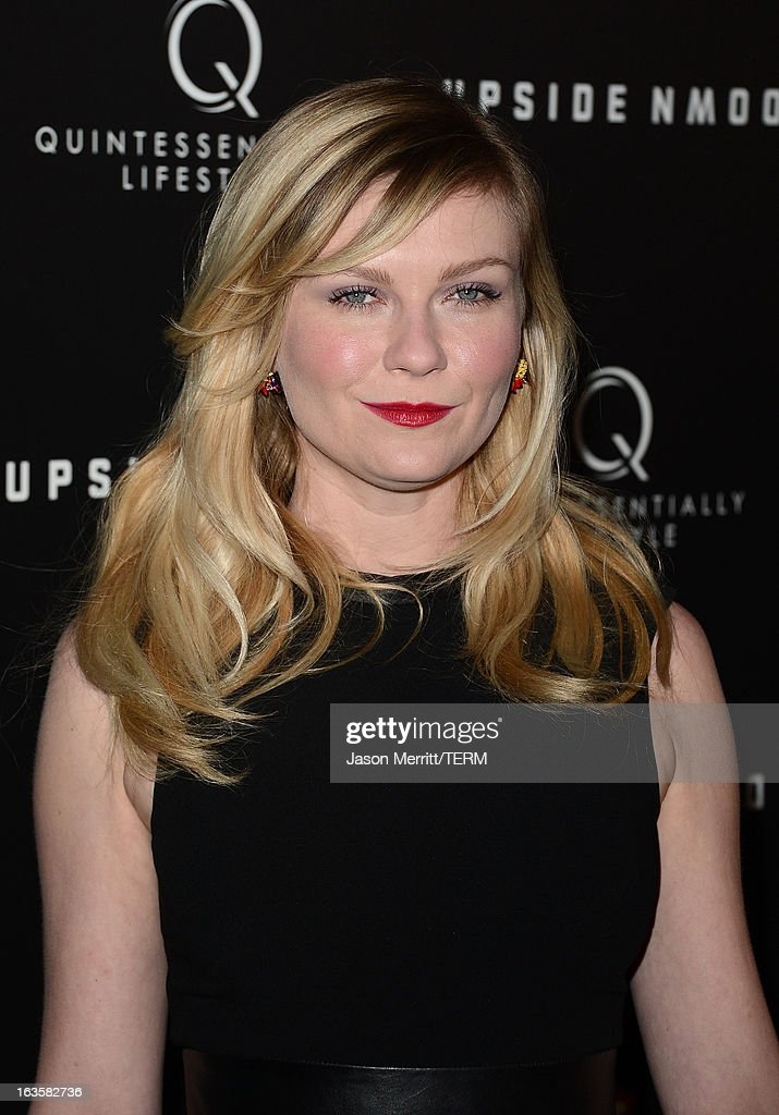 Actress Kirsten Dunst arrives at a special LA screening of Millennium Entertainment's 'Upside Down' at ArcLight Hollywood on March 12, 2013 in Hollywood, California.