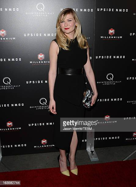 Actress Kirsten Dunst arrives at a special LA screening of Millennium Entertainment's Upside Down at ArcLight Hollywood on March 12 2013 in Hollywood...