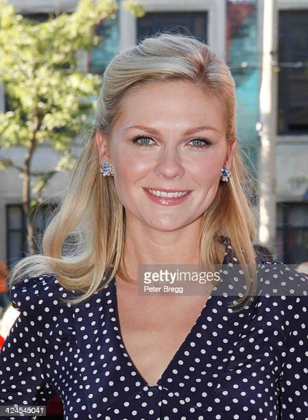 Actress Kirsten Dunst arrives at Meloncholia Premiere at Ryerson Theatre during the 2011 Toronto International Film Festival on September 10 2011 in...