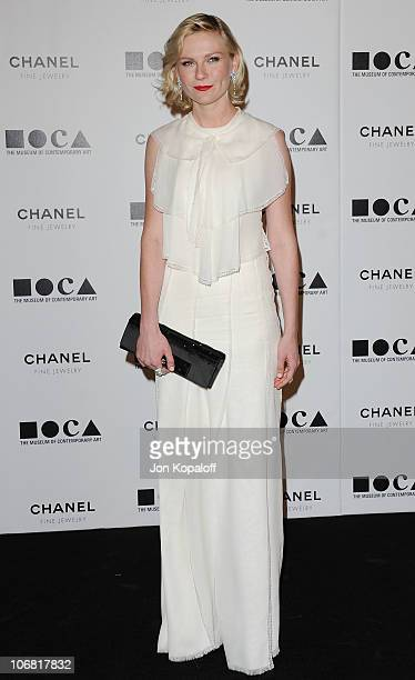 """Actress Kirsten Dunst arrives at MOCA's Annual Gala """"The Artists Museum Happening"""" at MOCA Grand Avenue on November 13, 2010 in Los Angeles,..."""