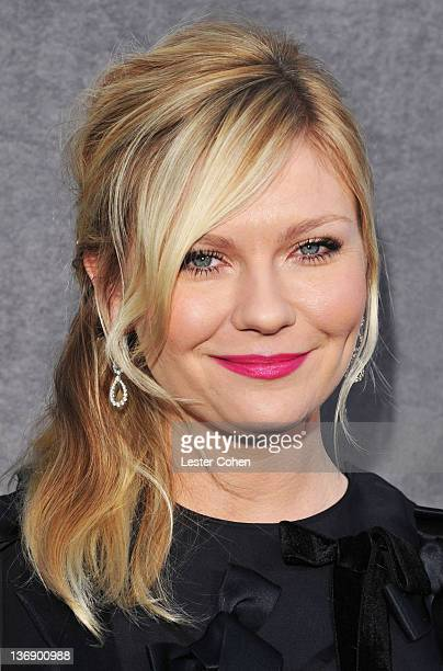 Actress Kirsten Dunst arrives at the 17th Annual Critics' Choice Movie Awards held at The Hollywood Palladium on January 12, 2012 in Los Angeles,...