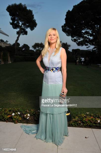 Actress Kirsten Dunst arrives at the 2012 amfAR's Cinema Against AIDS during the 65th Annual Cannes Film Festival at Hotel Du Cap on May 24 2012 in...
