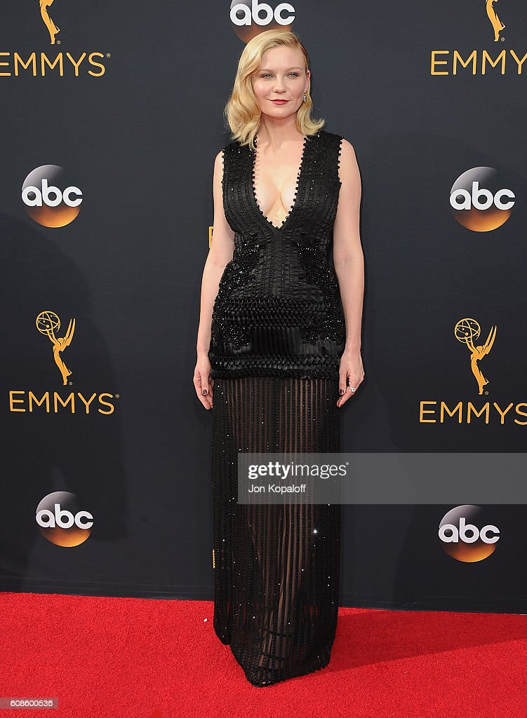 Actress Kirsten Dunst arrives at the 68th Annual Primetime Emmy Awards at Microsoft Theater on September 18, 2016 in Los Angeles, California.